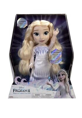 "Disney Frozen 2 MAGIC IN MOTION Queen Elsa Feature Doll sings ""Show Yourself"""