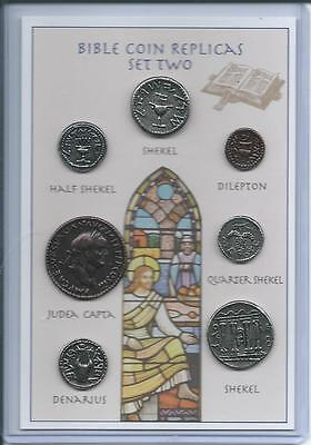 Set of 7 Bible Coin Replicas Replicas - can be used as an Educational Resource!