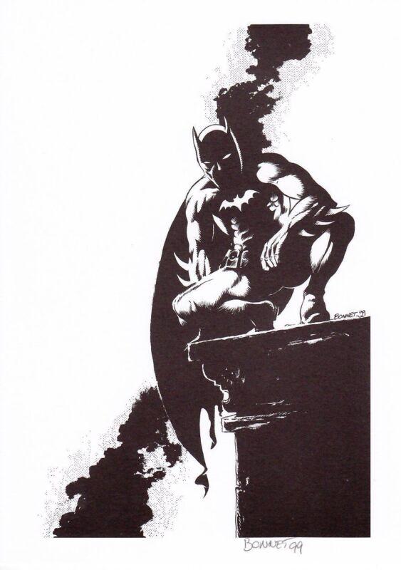 BATMAN 1999 ex-libris by Frank Bonnet (France) - signed - only 200 pcs - RARE !