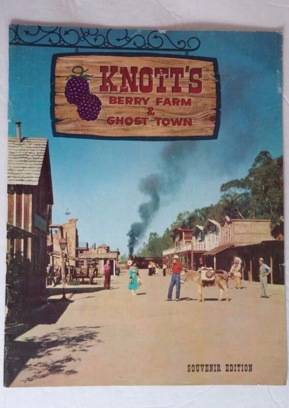 Knott's Berry Farm and Ghost Town Vintage 1967 Souvenir Edition Book History