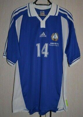 FINLAND U18 EURO 2001 MATCH WORN ISSUE FOOTBALL NATIONAL TEAM SHIRT JERSEY #14 image