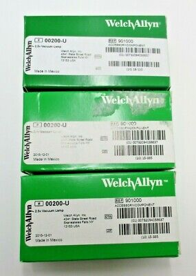 Welch Allyn 00200-u 2.5v Vacuum Lamp Lot Of 3 New