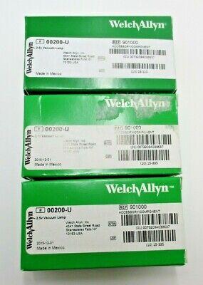 Welch Allyn 00200-u 2.5v Vacuum Lamp Lot Of 3 New