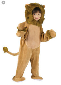 HALLOWEEN WIZARD OF OZ Cowardly Lion Costume sz L ( 5 / 6  )