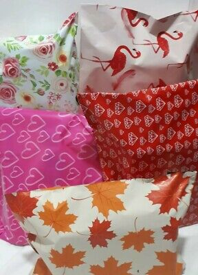 30 🍁MIXED MAILING BAGS🌺 PARCEL PACKAGING MIXED🌹 pattern coloured UK Seller❤