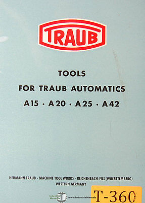 Traub A15 A20 A25 A42 Tooling Manual