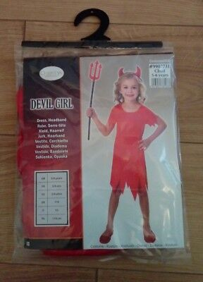 5 Girl Halloween Costumes (New Christys Costumes Halloween Devil Girl Fancy Dress Costume Age 5/6)