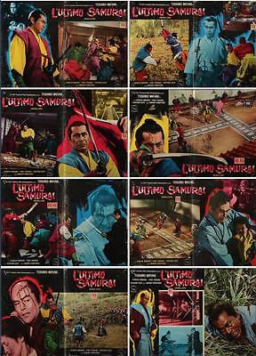 SAMURAI Revolt Italian fotobusta photobusta movie posters x8 TOSHIRO MIFUNE