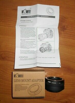 Kiwi fotos Lens Mount Adapter Nikon F Lens to Sony E Mount LMA-NK_EM