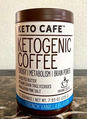 Keto Cafe Ketogenic Coffee FRENCH VANILLA Flavor 7.93oz Exp 11/2021 New & Sealed French Vanilla Flavoring