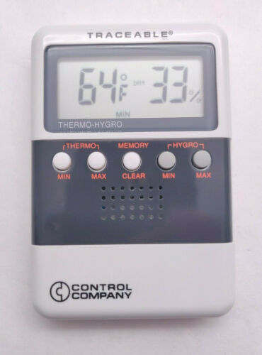 Control Co Traceable Digital Humidity Temperature Meter Thermo-Hygro  Model 4096