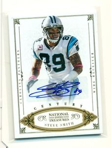 2012 NATIONAL TREASURES STEVE SMITH CENTURY GOLD AUTO 11/25