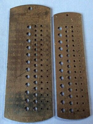 2 Used Vintage Starrett Drill Wire Gauge 185 186 Surface Rust U