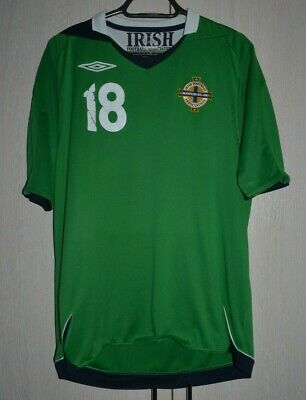 NORTHERN IRELAND 2006 HOME FOOTBALL SHIRT JERSEY UMBRO #18 SIZE L  image
