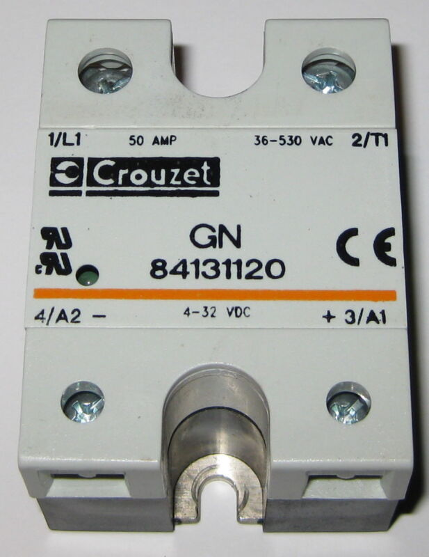 Crouzet Solid State Relay - 530V AC - 50A -  GN 84131120 - 4-32 VDC Control