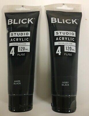 - Blick Studio Acrylic Paint - 4 fl oz. (120ml) - Blacks & White ( see variations)