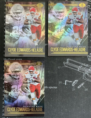 2020 Panini Illusions Clyde Edwards-Helaire Rookie 3 Card Base Lot - KC Chiefs - $0.99