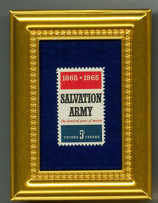 SALVATION ARMY  50 Y.O. STAMP   A GLASS FRAMED COLLECTIBLE POSTAGE MASTERPIECE!