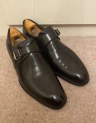 John Lobb Bespoke Black Monk Buckle Shoes Loafers UK7.5 RP£1800