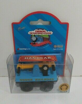 NEW Thomas the Tank Engine & Friends Wooden Railway Handcar 1999 99154 LC