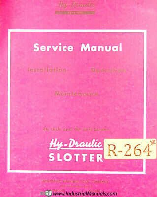 Rockford 36 And 48 Stroke Series 6 Slotter Service Manual