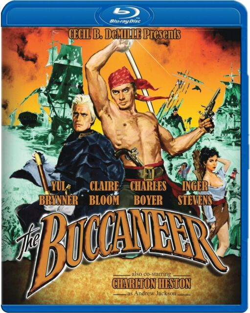 THE BUCCANEER (Yul Brynner)  -  Blu Ray - Sealed Region free for UK
