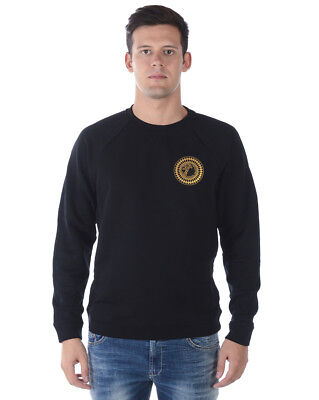 Versace Collection Sweatshirt Hoodie Cotton Man Black V800687SVJ00358 V1008