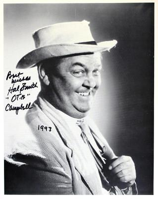HAL SMITH (1916-1994) (OTIS of ANDY GRIFFITH SHOW) autographed 8x10 RP photo