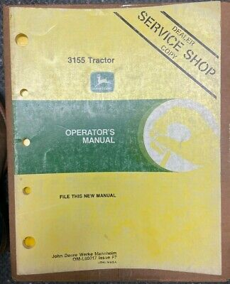 John Deere 3155 Tractor Operator Manual Om-l60017 F7 P-8