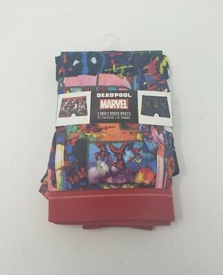 Marvel Deadpool Boxer Briefs 2 Pack Mens Size Medium (32-34)