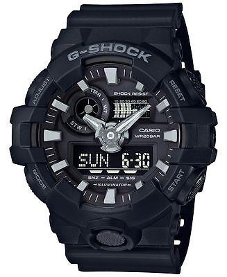 Casio Analog Digital Illuminator Watch (Casio G-SHOCK GA700-1B Black Super Illuminator Analog Digital 200m Men's)