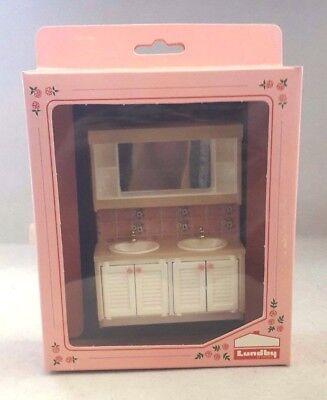 Lundby Puppenmöbel Waschbecken Spiegel Art.Nr. 8832 Badezimmer Puppenhaus