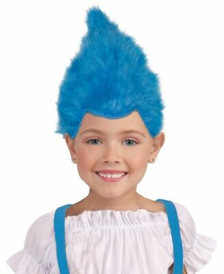 Troll Wig Costume (Unisex Child's Size Furry Elf Wig Fuzzy Troll Wig Pixie Wig Costume)