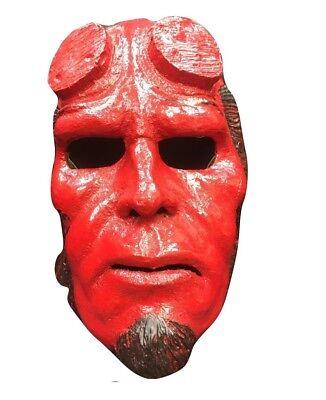 UK Hellboy Film Glasfaser Erwachsene Kinder Kostüm geschnürt Halloween (Hellboy Halloween Kostüme)