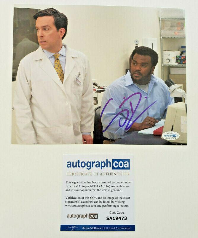 Craig Robinson Signed The Office 8x10 Photo w/ Ed Helms EXACT Proof ACOA B