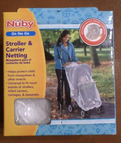 Nuby Stroller & Carrier Mosquito Netting with Elastic Edges