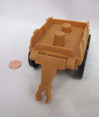 Fisher Price Little People BROWN WAGON CART for 2 Figures Farm Fall - Kids Wagon Halloween