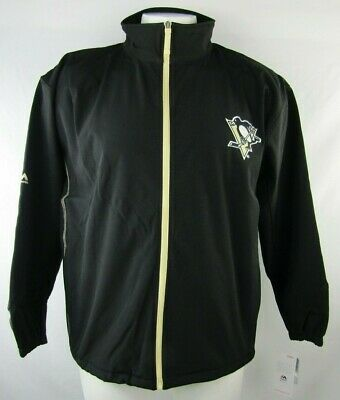 Pittsburgh Penguins Men's Full Zip Embroidered Black Track Jacket NHL 2XLT - 4XL