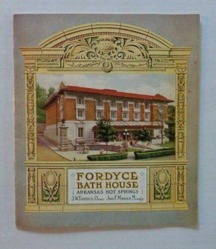 Fordyce Bath House Arkansas Hot Springs S.W. Fordyce 1920s Architecture Book