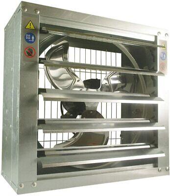 Grelwt 20 Inch Wall Mounted Steel Shutter Exhaust Fan Automatic Shutter 3877 Cfm