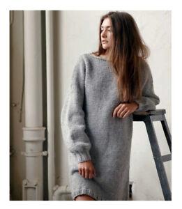KNITTING Pattern- Easy Knit Ladies chunky sweater dress pattern fits 28-42