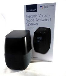 Insignia™ - Voice™ Smart Bluetooth Speaker and Alarm Clock NS-CSPGASP