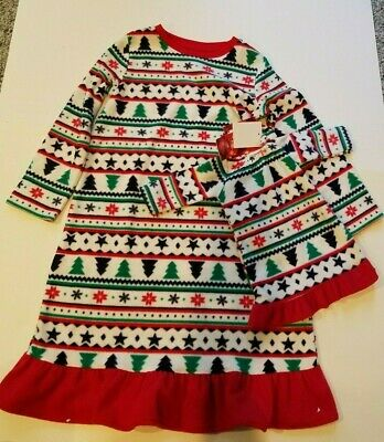 Toddler Girls Jammies Your Family White Multicolor Christmas Nite Gown Size 4T](Christmas Jammies Family)