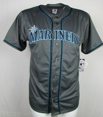Seattle Mariners Mens Charcoal Fashion Big   Tall Xlt 6Xl Team Jersey Mlb A16