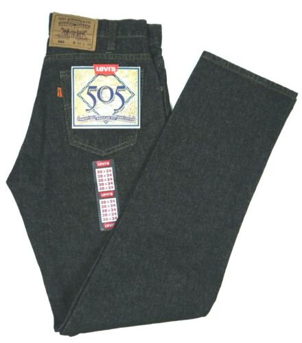Vintage Black Levis 505 Jeans Made in USA NWT Deadstock Mens 29 30 42 x 30 34 36