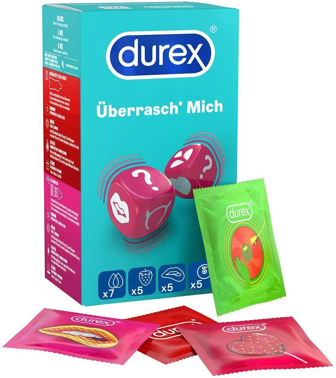 Durex Überrasch Mich Kondom-Mix Präservative Kondome Verhütungsmittel 22 Stück