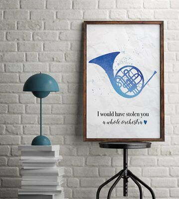 - Blue French Horn Ted Mosby Quote How I Met Your Mother Couples Wall Art Print