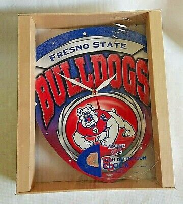 NEW Fresno State University Bulldogs Licenced High Definition Plaque Clock NCAA