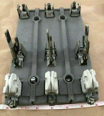 Vintage 3-pole Knife Switch Steampunk - Cast Aluminum Base - Ceramic
