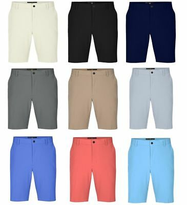 2018 Mens Greg Norman Flat Front Microfiber Tour Shorts  Pick Size   Color   72